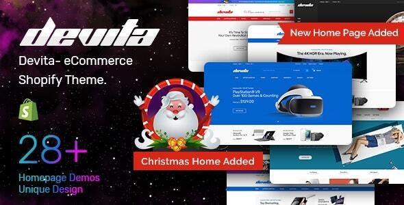 Devita Multipurpose Responsive Shopify Theme
