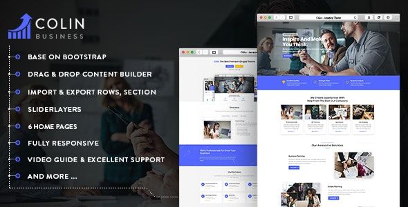 Colin - Responsive Multipurpose Business Drupal 8.8 Theme - Business Corporate
