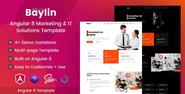 Baylin - Angular Marketing & IT Solutions Template - Technology Site Templates