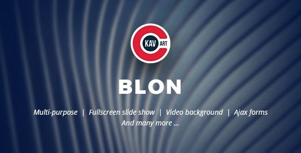 Blon - Personal Portfolio Template - Personal Site Templates