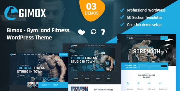 Gimox - Gym and Fitness WordPress Theme - Health & Beauty Retail