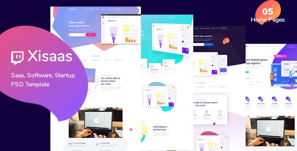 Xisaas - Landing Page for Saas, Software - Software Technology