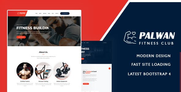Palwan - Gym Fitness Bootstrap Template