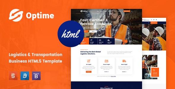 Optime - Logistics & Transportation HTML5 Template - Business Corporate