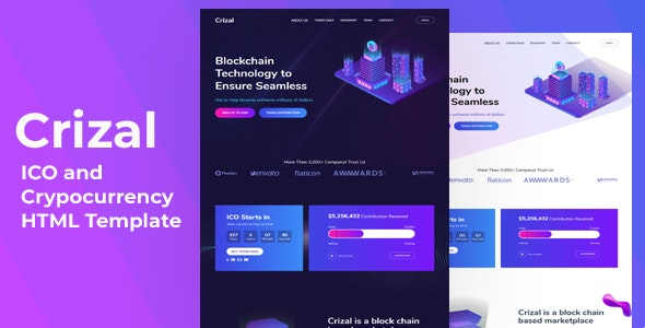 Crizal - ICO and Cryptocurrency HTML Template by web-template