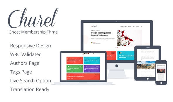 Churel - Dark and Light Membership and Subscription Ghost 3.1 Theme - Ghost Themes Blogging
