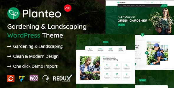 Image result for Planteo - Gardening and Landscaping WordPress Theme