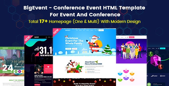 BigEvent - Event, Conference & Meetup HTML Template - Events Entertainment