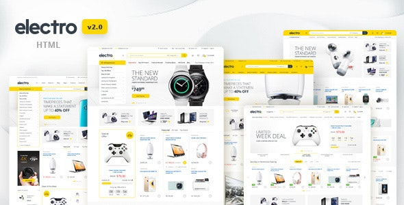 Electro - Electronics eCommerce HTML Template - Retail Site Templates