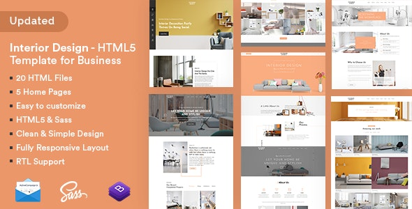 Interior Design - HTML5 Template for Business - Corporate Site Templates