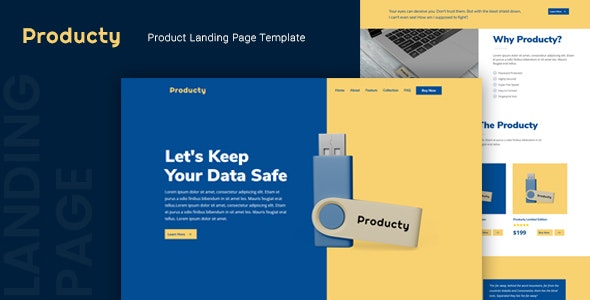 Producty — Product Landing Page Template - Marketing Corporate