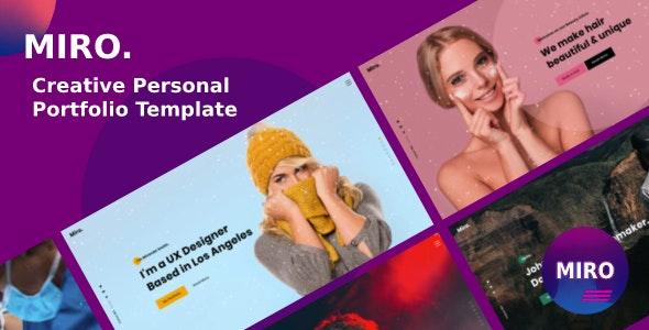 Miro - Creative Personal Portfolio Template - Portfolio Creative