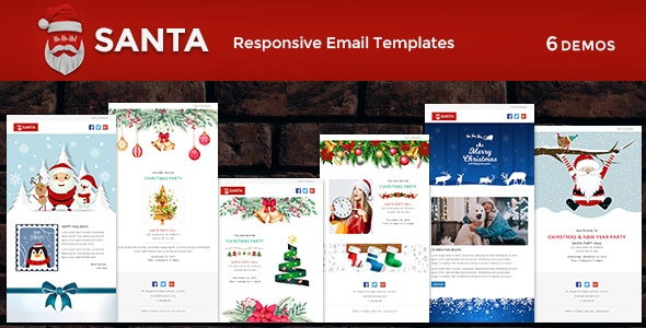 SANTA - Responsive Christmas Notification Templates - Newsletters Email Templates