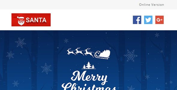 SANTA - Responsive Christmas Notification Templates