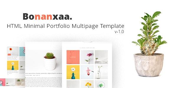 Bonanxaa - Minimal Portfolio HTML5 Responsive Template - Portfolio Creative