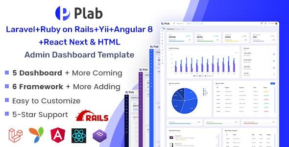 Plab | Multi-Framework Admin Dashboard Template - Admin Templates Site Templates