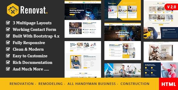 Renovat - Construction Industry - Business Corporate