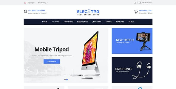 Electra - OpenCart 2 & 3 Responsive Theme