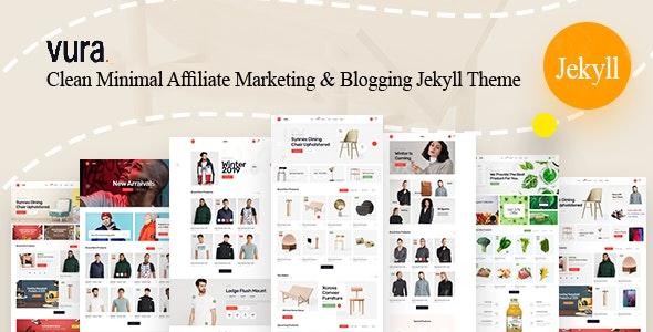 Image result for Vura - Affiliate Marketing & Blogging Jekyll Theme