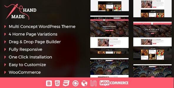 Handmade Product Shop  WordPress Theme - eCommerce WordPress