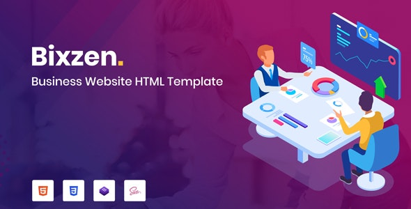 Bixzen - Business Website HTML Template - Business Corporate