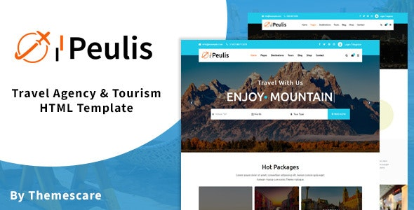 Peulis - Travel Agency & Tourism HTML Template - Travel Retail
