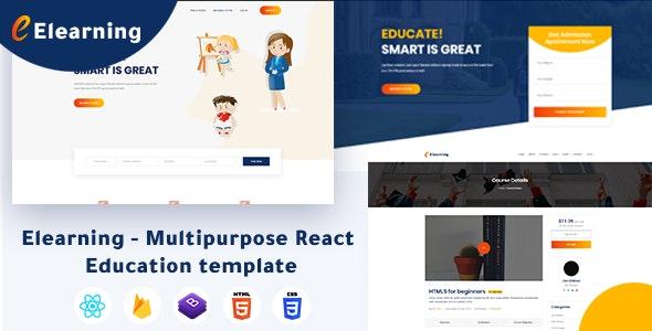 Image result for Elearning - Multipurpose React Education themeforest