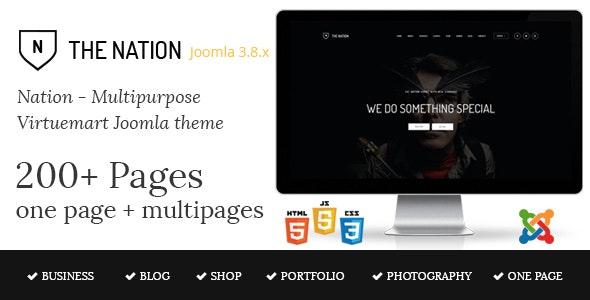 Nation - Multipurpose Virtuemart Joomla Template - VirtueMart Joomla