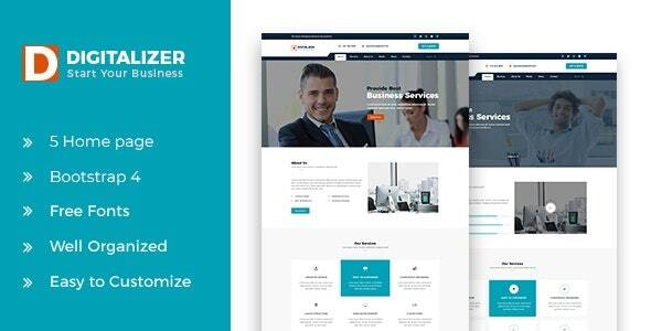 Digitalizer HTML5 Business Template - Business Corporate
