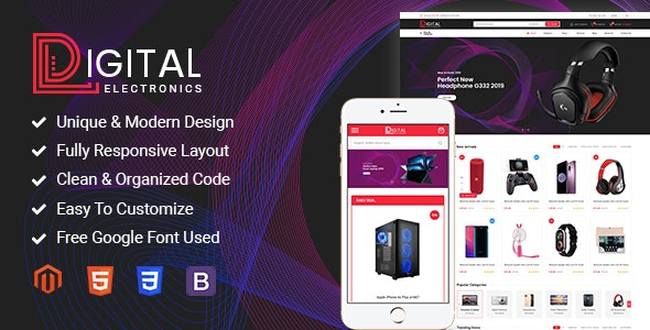 Image result for Digital - Responsive Magento 2 Shopping Theme
