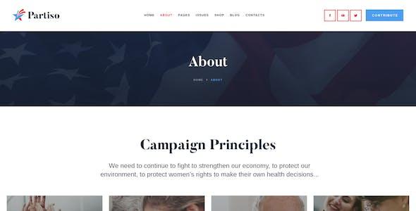 Partiso | Political Party PSD Template