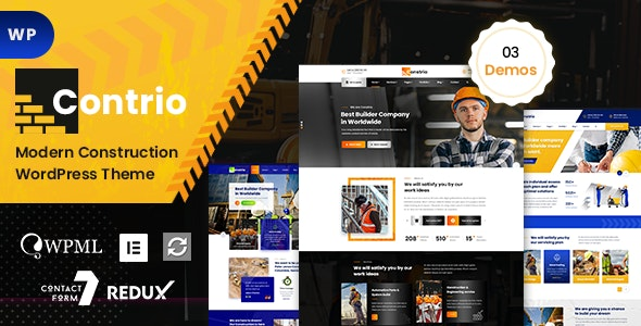 Contio - Construction WordPress - Business Corporate