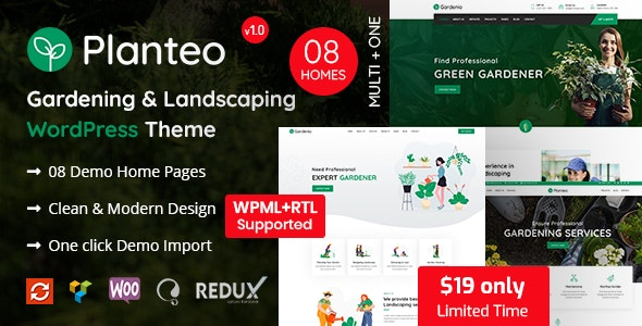 Planteo - Gardening and Landscaping WordPress Theme - Business Corporate