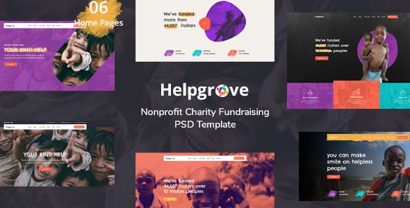Helpgrove - PSD Template for Charity - Charity Nonprofit
