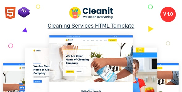 Cleanit - Cleaning Services HTML Template - Business Corporate