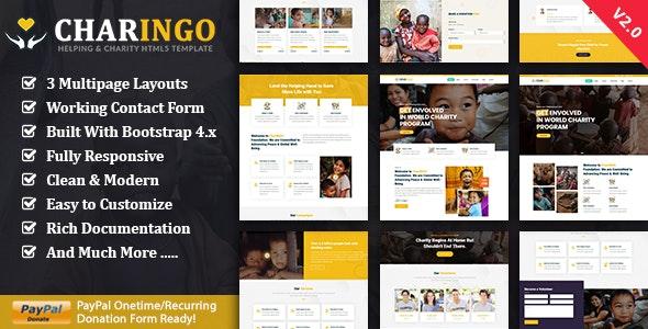 Charingo - Nonprofit Charity HTML5 Template - Charity Nonprofit