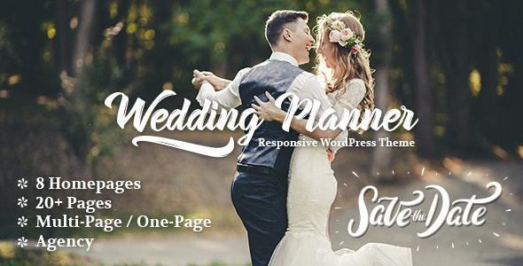 Wedding Planner Responsive Wordpress Theme By Freevision