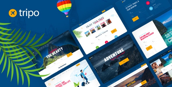 Tripo - PSD Template For Travel & Tourism Agencies - Travel Retail