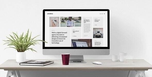 Pasadena - Sophisticated Branding Agency Joomla Template - Portfolio Creative