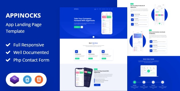Appinocks - App Landing Page Template by aip_theme3434