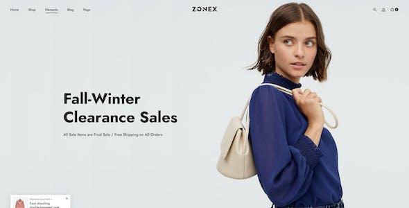 Zonex | Fashions eCommerce PSD