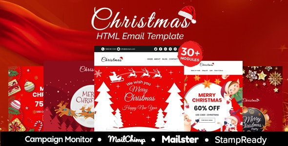 Christmas - Multipurpose Responsive Email Template 30+ Modules - Mailster & Mailchimp - Newsletters Email Templates