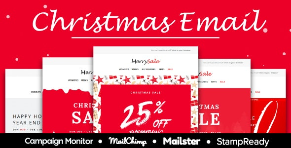 Merrysale - Multipurpose Responsive Email Template 10+ Layout- Mailster & Mailchimp - Newsletters Email Templates