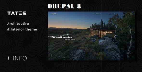 Tatee - Architecture and Building Business Drupal 8 Theme - Portfolio Creative