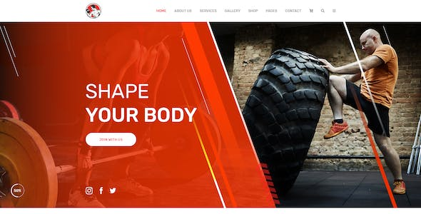 M.Ali - Fitness and Gym PSD Template