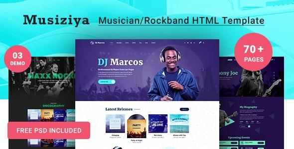 Musiziya - Musician HTML Template - Entertainment Site Templates