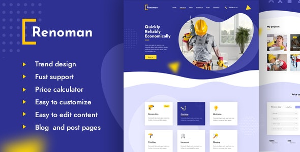 Renoman - Handyman Landing Page - Business Corporate