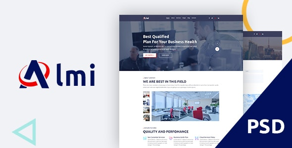 Almi - Business PSD Template - Business Corporate