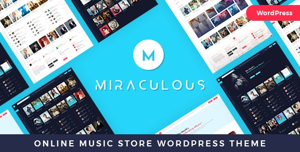 Miraculous - Multi Vendor Online Music Store WordPress Theme - Entertainment WordPress