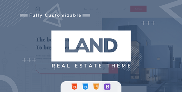 Land - Real Estate Landing Page - Marketing Corporate